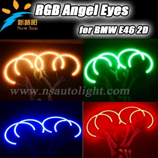 Buy 42pcs 5050 SMD Leds RGB Angel Eyes For BMW E46 2D High Power 35w Headlamp at wholesale prices