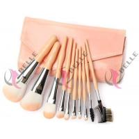 TB-10-28 Synthetic Hair 10pcs makeup brush set with case peach