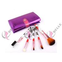 Quality TB-5-04 Synthetic Hair 5pcs makeup brush set with case 3 colors for sale
