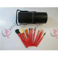 Quality TB-10-04 Goat Hair 10pcs makeup brush set with balck cup holder for sale