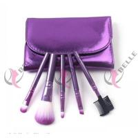Quality TB-5-05 Synthetic Hair 5pcs makeup brush set with case 4 colors for sale