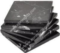 Quality Black marble coaster set of 4 for sale