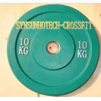 Quality 10KG Green Solid Rubber Bumper Plates for sale