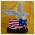 Buy White Eagle with American Flag Statue at wholesale prices
