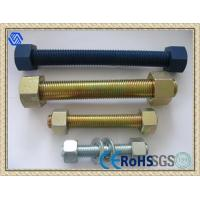 Standard size Stud Bolts and Nuts with yellow zinc