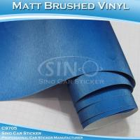 Quality Brushed Pearl Blue Car Wrap Vinyl Roll for sale