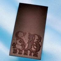 Quality LP-081 embossed leather label for sale