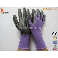 Quality Violet nylon with black nitrile glove-DNN810 for sale