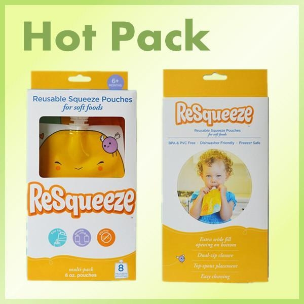 China Squeeze refillable baby food pouch