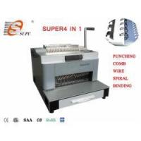 New Design Multifunction Punching and Comb Wire Spiral Coil Binding Machine(SUPER4&1)