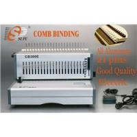 Buy cheap A4 size paper punching comb binding machine electric (CB300E) from wholesalers