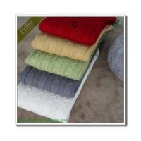 Quality Cable Knitted Blanket for sale
