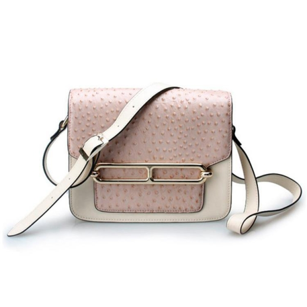 Buy Good quality low price ostrich cow leather small cell phone single shoulder bag for girls at wholesale prices