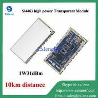 Quality 10km long distance 1W 31dBm Si4463 high power rf transparent transceiver module for sale