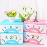 Quality Multi-function plastic two layer storage drawers box, storage cabinet for tableware for sale