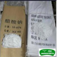 China Acidulants sodium acetate anhydrous msds Sodium Acetate Anhydrous on sale