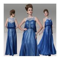 Quality Dark Blue A-Line Plus Size Mother Of Bride Dress, Floor Length Evening dress for sale