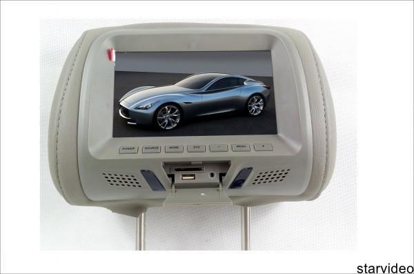 China car headrest monitor brilliant color 7 inch taxi headrest advertising
