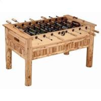 Quality Triumph Sports USA Rush Creek Log Cabin Style Soccer Table - 37-0006 for sale