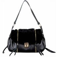 Quality Luxurious Korean Rabbit Hair Style One Shoulder Bag for sale