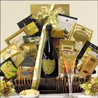 China The Gourmet Sophisticate Champagne Gift Basket with 6 Champagne Choices on sale