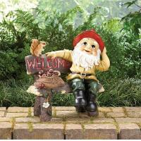 Quality Garden Gnome Greeting Sign for sale