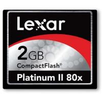 Quality Compact CF Flash Cards Lexar 2GB Platinum II 80X CompactFlash for sale