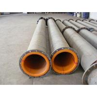 China Rubber Lined Pipe Wear resistant Rubber lining on sale