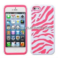 Quality Zebra Hybrid Silicone Hard Case Cover For iPhone 5 5G for sale
