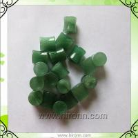 China Natural green aventurine stone ear plugs 6mm on sale