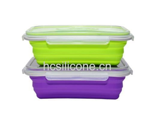 Buy collapsible silicone lunch box,foldable silicone lunch box,silicone collapsible lunch box at wholesale prices