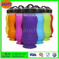 Quality NEW FDA&LFGB Standard Colorful Silicone Collapsible Water Bottles for sale