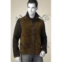 Quality Two Tone Suede Leather Jacket for sale