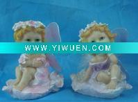 China Artificial Crafts(970) Polyresin fairy figurine with wing on sale
