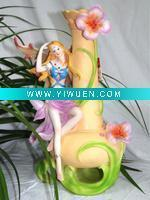 China Artificial Crafts(970) Resin Angel Figurine Decorative Vase,Resin Crafts on sale