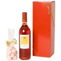 Quality Wine and Champagne Rose Wine and Pink Truffles for sale