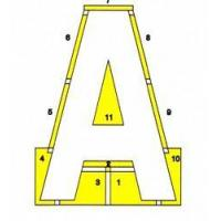 China School Lettering Stencil 20' x 14' 6 on sale