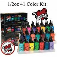 Quality Millennium Moms Tattoo Inks Boxed Kit with 41 - - 1/2oz Bottles for sale
