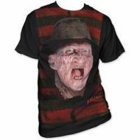 Quality A Nightmare on Elm Street stripes big print subway t-shirt black for sale