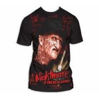 Quality Nightmare on Elm Street Writing on the Wall t-shirt for sale