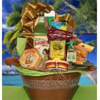 China Gourmet Gift Baskets Island Treasures GIft Basket on sale