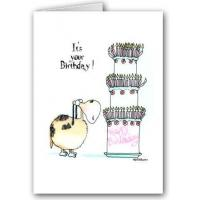 China Greeting Cards Funny Dog Birthday Card on sale