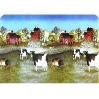 """Quality 212 - Vinyl Place Mat with Cows and Barns, 16"""" X 12"""" (16"""" X 12"""" ) for sale"""