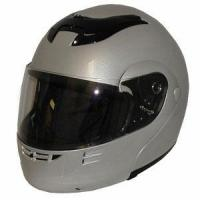 Quality DOT Modular Full Face Silver Motorcycle Helmet for sale