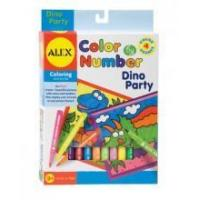 Arts & Crafts Alex Toys Color By Number - Dino Party