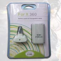 Quality Battery pack&Chargeable cable2100mah for xbox360 for sale
