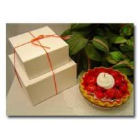 Quality 5 inch WhitePastry Gift Boxes for sale