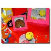 Quality 4 or 7 inch Pink & RedBakery - Pastry Window Boxes for sale