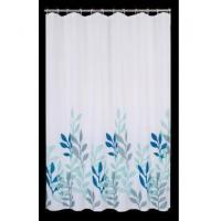 Quality Fabric Shower Curtains Chinese Picture Waterweed Shower Curtain T3008 for sale