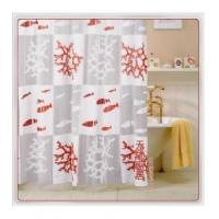 Quality Vinyl Shower Curtains Red Coral Reef Fish Shower Curtain W1501 for sale